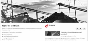 Recent South African website design - VBKOM Centurion
